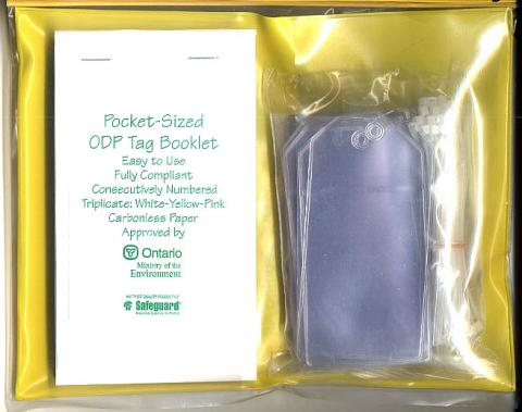 Photo of an ODP tag kit